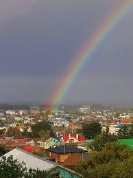 El Arco Iris en el cerro de la cruz de Punta Arenas