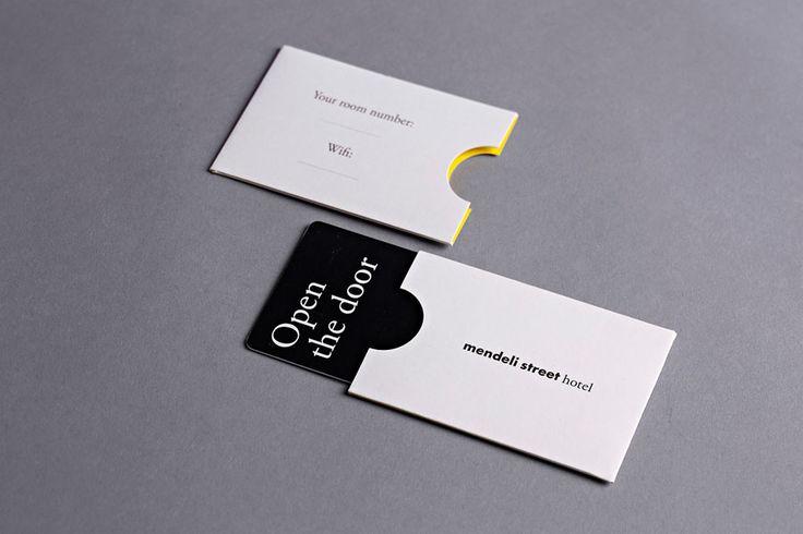 Key cards and sleeves created for Tel aviv hotel Mendeli Street designed by Koniak.