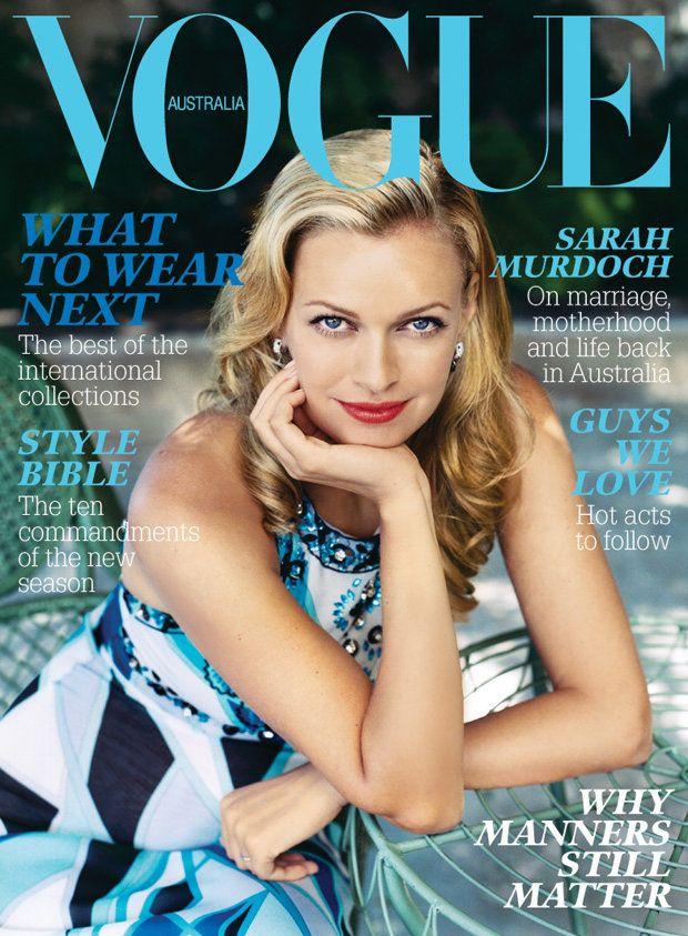 Sarah Murdoch by Hugh Stewart Vogue Australia March 2006