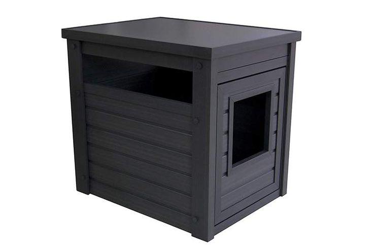 cat litter box furniture, hidden litter box, cat box enclosure