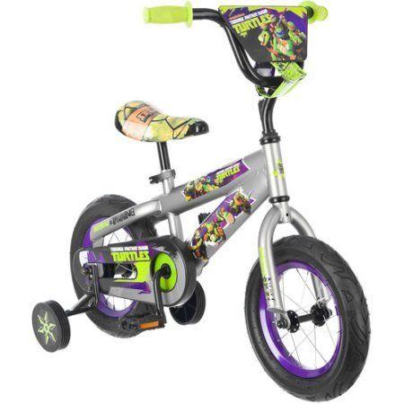 12 Inch Teenage Mutant Ninja Turtles Bike Bicycle with Training Wheels, Tricycle