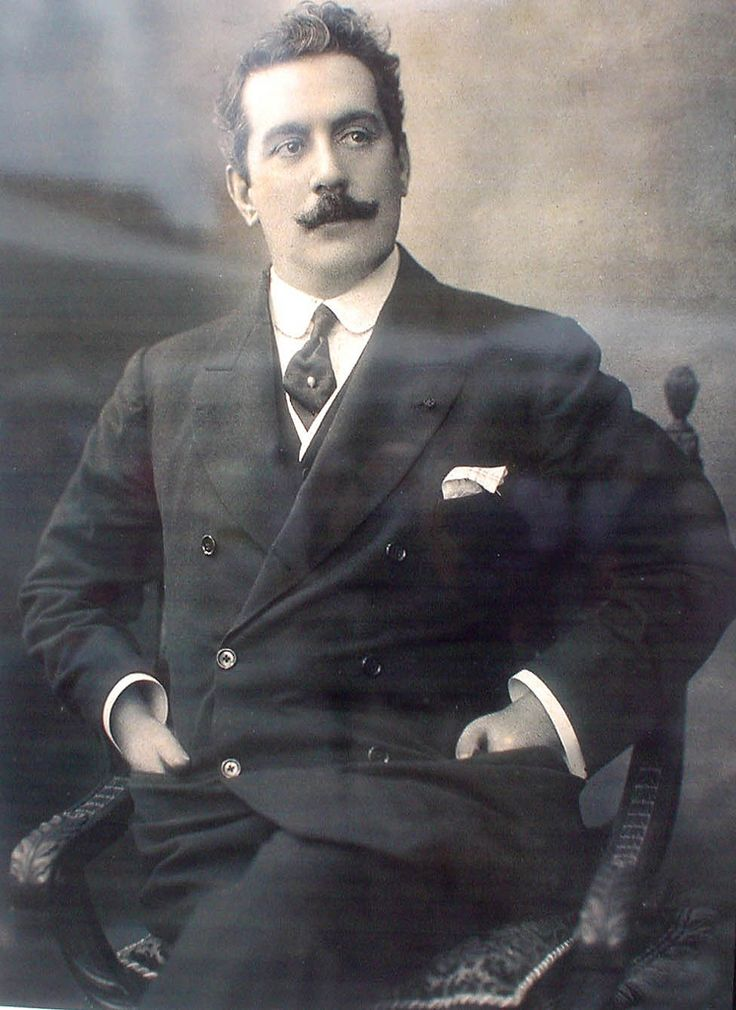 Giacomo Puccini - great Italian composer of opera, 1858-1924. operas include: La bohéme, Tosca, Madama Butterfly, Turandot