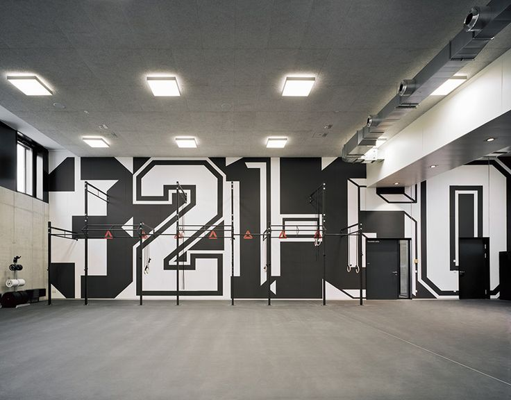 Andreas Uebele And His Team Kitted Out A New Adidas Gym In Germany With Super Sized Words Numbers That Contain Hidden Meaning