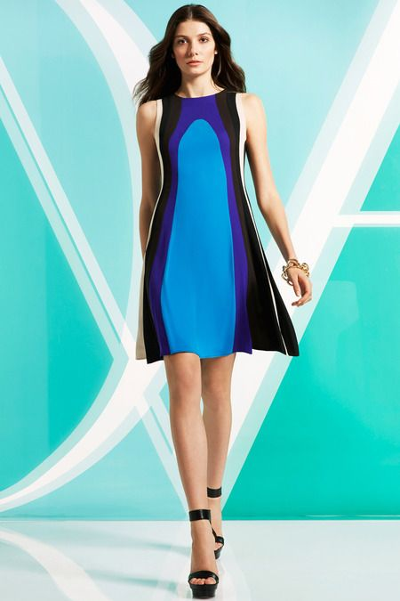 Diane von Furstenberg Pre-Fall 2014 Collection, Look 15. The colors and the shape...it flows.