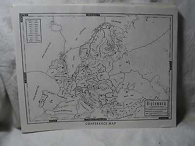1961 Diplomacy Board Game Games Research Inc.  7 Conference Maps only