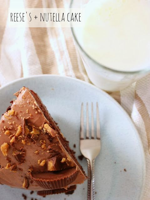 BEAUTY & THE BEARD: REESE'S + NUTELLA CAKE (yeah, that's right!)