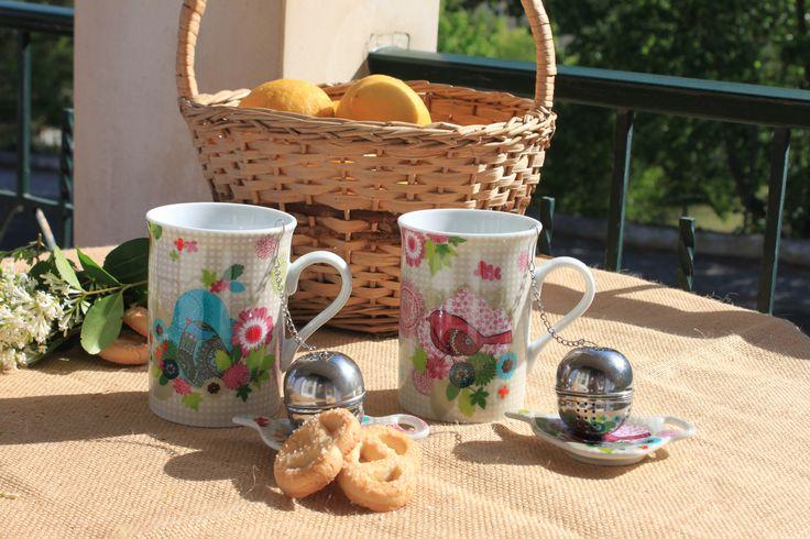 Primavera ❀ Caneca com infusor - Feliz conjunto de caneca, infusor e pratinho base. Muito prático e atraente. Inspired by Lemon