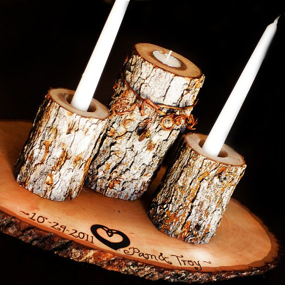 Unity Candle Sets with Personalization #wedding #rustic #decor http://roxyheartvintage.com