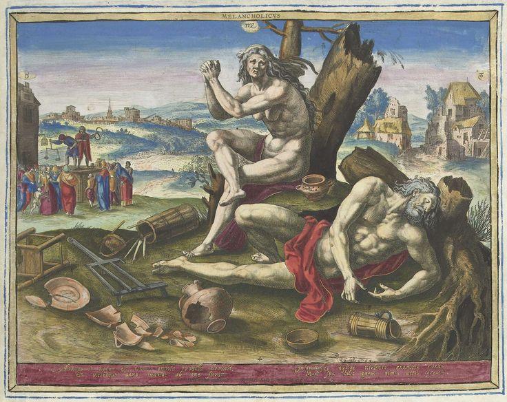 Melancholisch temperament, Raphaël Sadeler (I), 1583