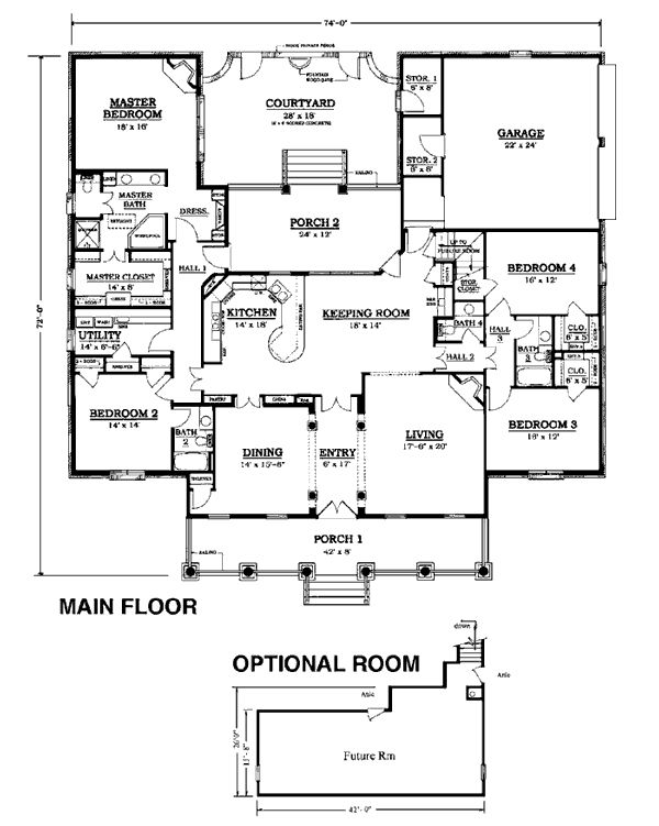 65 best floor plans too big but fun images on pinterest for Cape to colonial conversion plans