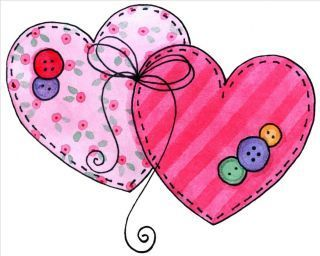 Imagenes de corazón para imprimir  con niñas, con osos y flores junto con corazones, corazones country....muchos corazones en imagenes para ...