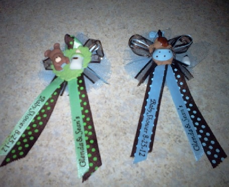 Charming Baby Shower Ribbon Favors