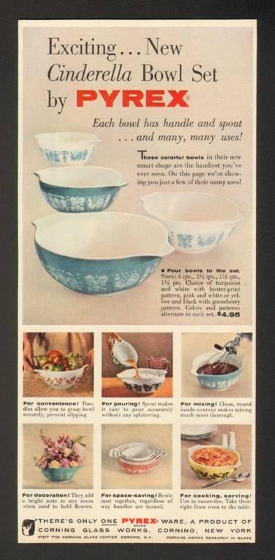 Pyrex Cinderella Bowl Sets