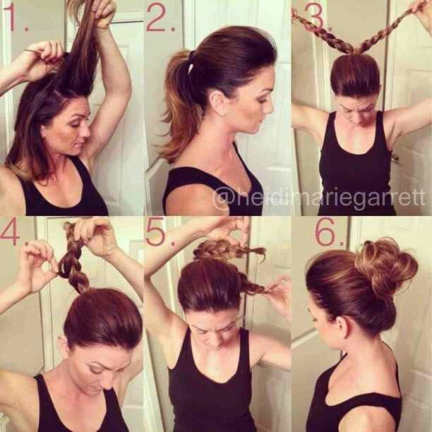 how to put your hair in two buns