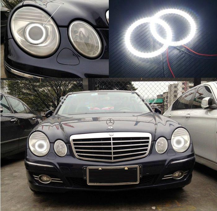 (30.00$)  Watch here  - For Mercedes Benz e class w211 E200 E220 E270 E280 E320 E420 CDI 2003-2009 Excellent Ultra bright smd led Angel Eyes kit