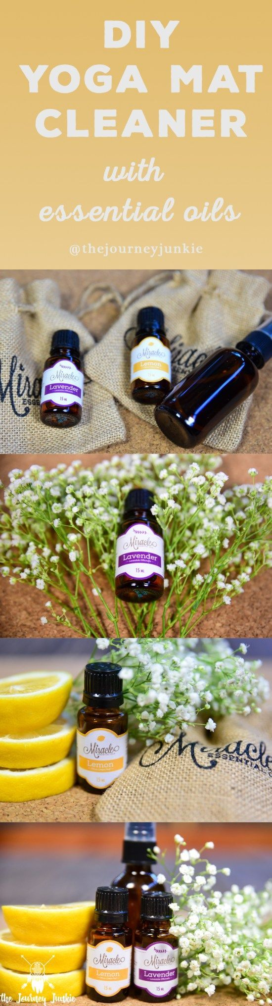 DIY Yoga Mat Cleaner Spray with Essential Oils - Pin now, buy your oils now, make your yoga mat cleaner later!