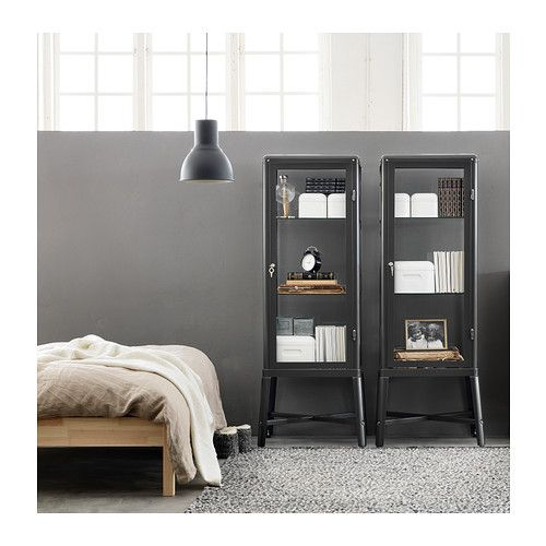 FABRIKÖR Glass-door cabinet IKEA With a glass-door cabinet you can show off as well as protect your glassware or your favourite collection.