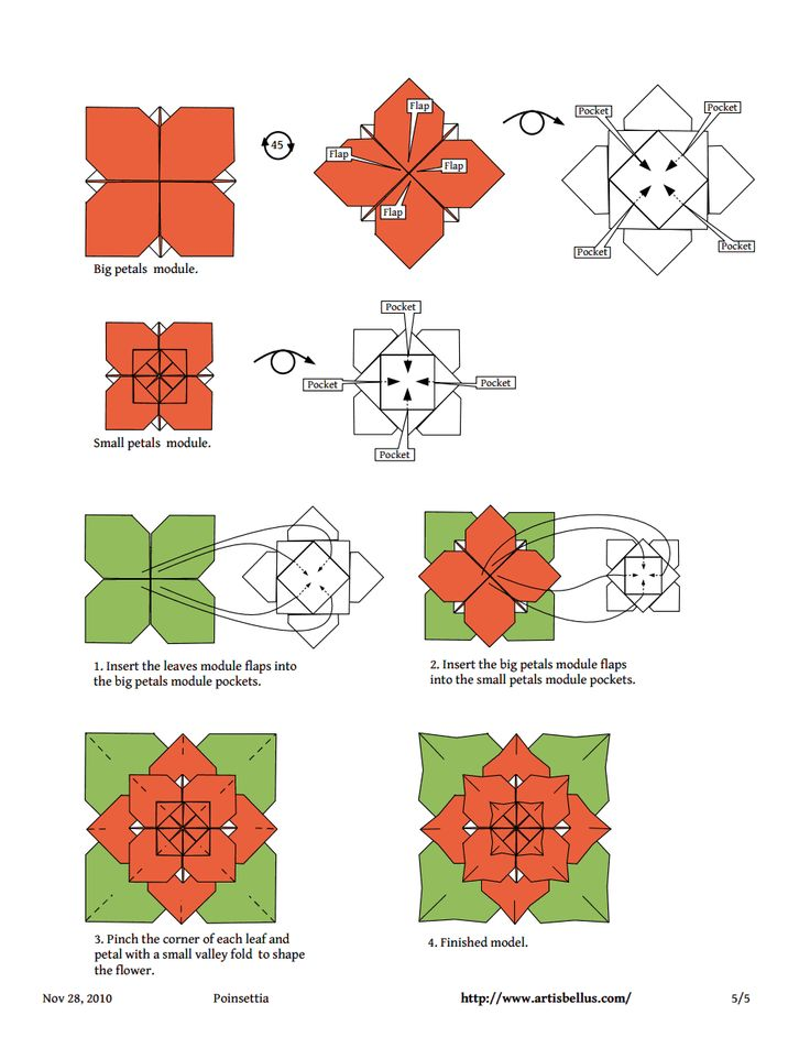 Poinsettia origami instructions image collections coloring pages adult 495 best flores de origami images on pinterest origami flowers mightylinksfo Gallery