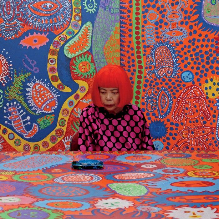 the dot obsession by yayoi kusama art lessons tableau. Black Bedroom Furniture Sets. Home Design Ideas