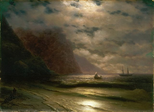 Ivan Konstantinovitsch Aivasovsky - Rocky Seashore [1876] | Flickr - Photo Sharing!