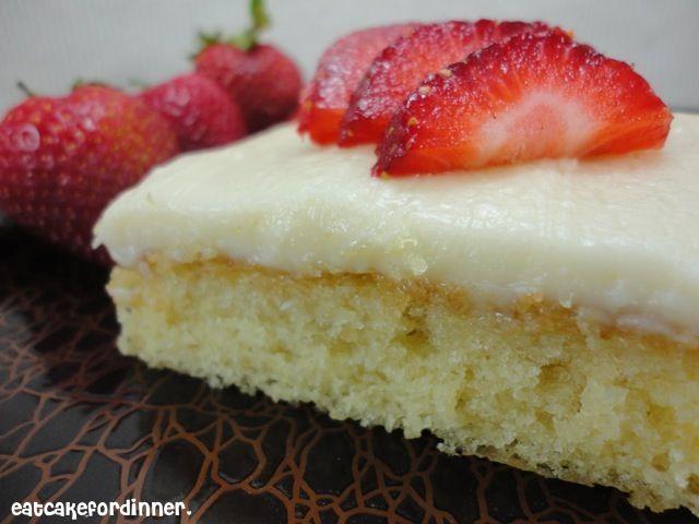 Eat Cake For Dinner: Grammy's White Sheet Cake.....We LOVE LOVE LOVE this cake!!!!!