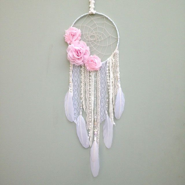 Custom Flower Dreamcatcher, Dream Catcher, Boho Bedroom decor, Nursery decor, Boho baby, Baby Shower Gift by InspiredSoulShop on Etsy https://www.etsy.com/listing/226948845/custom-flower-dreamcatcher-dream-catcher
