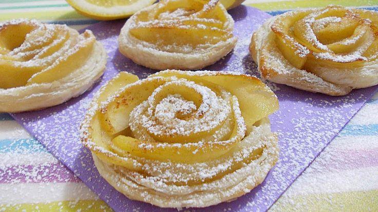 Se avete 20 minuti, un rotolo di pasta sfoglia e due mele, provate a realizzare questa gustosissima ricetta. Le rose di pasta sfoglia e mele. Ricetta facilis...