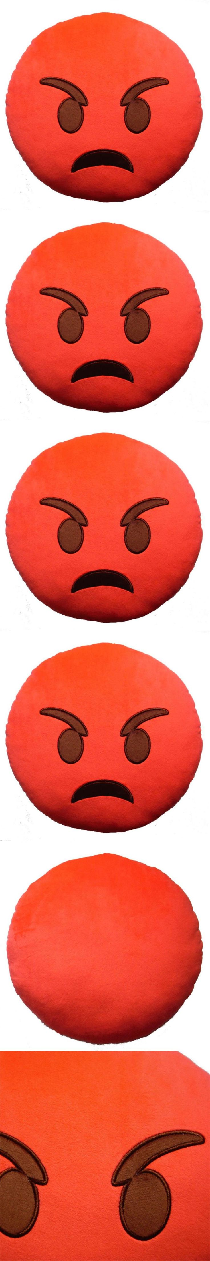 Home Decoration Red Angry Emoji Home Office Emoticon Emoji Cushion Decorative Throw Pillow Toy Gift cojines Better Life
