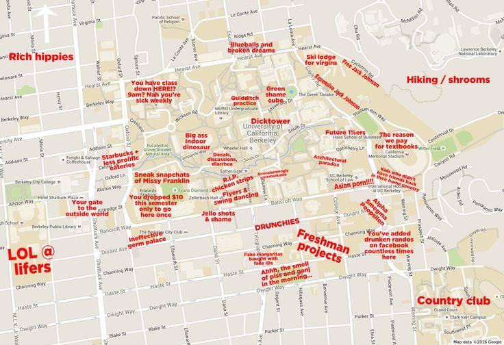 UC Berkeley: http://theblacksheeponline.com/uc-berkeley/the-judgmental-map-of-cal-berkeley-campus