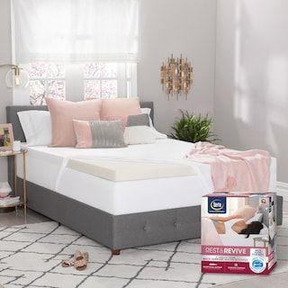 Serta Rest Amp Revive 3 Inch Luracor Foam Back Support Mattress Topper Null Memory Foam