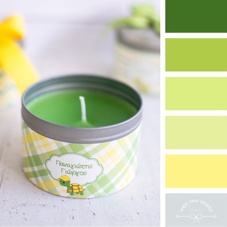 Scented candles bobo. Colour palettes. Greeneries . Pantone color 2017