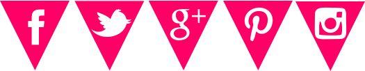 Iconos de redes sociales con forma de guirnaldas --> descarga gratuita