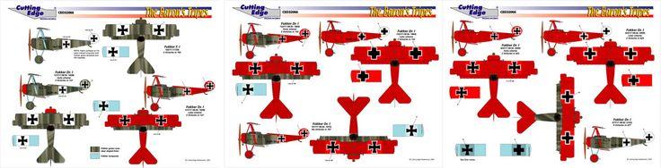 World's Best Model Airplane Decals   Cutting Edge Decals   PYN-up Decals   Yellowhammer Decals » Manfred von Richthofen's Dr.Is