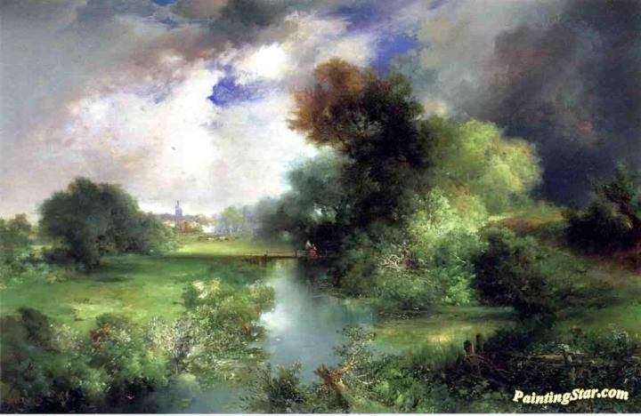 June, East Hampton Artwork by Thomas Moran Hand-painted and Art Prints on canvas for sale,you can custom the size and frame