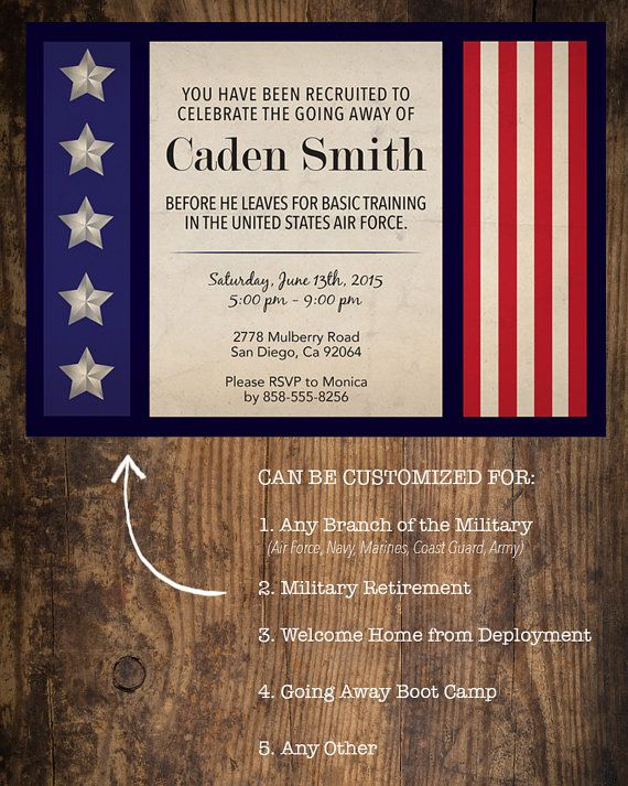 Best 20 Deployment Party ideas – Military Party Invitations