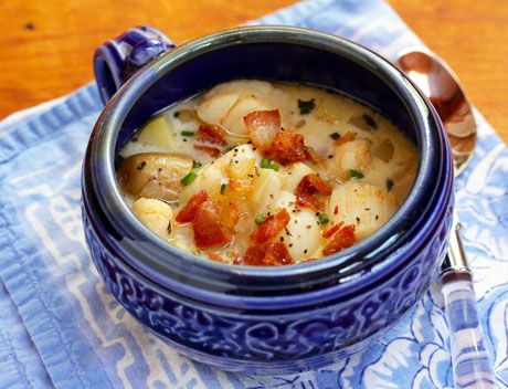 Scallop, bacon and potato chowder, from Soup Chick