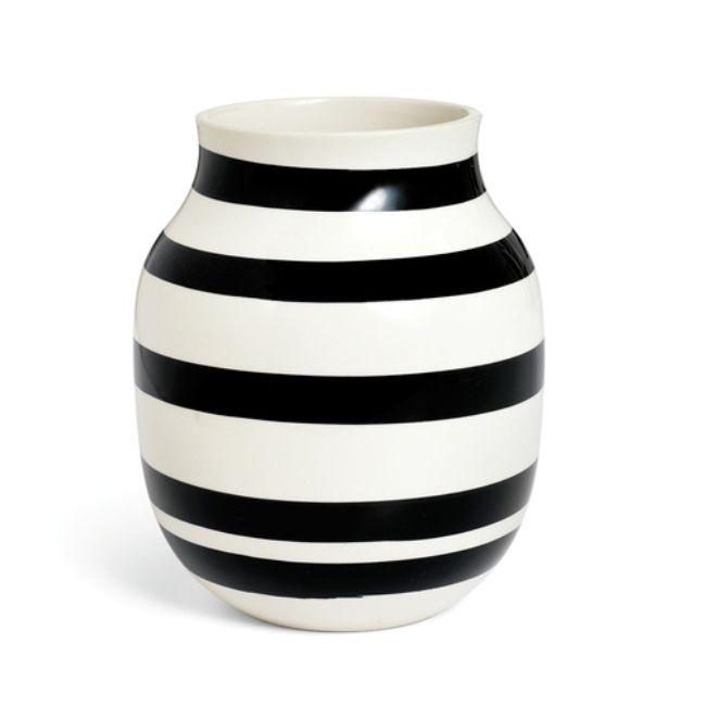 Kähler Keramik Omaggio Vas Medium Svart - danskdesign.nu