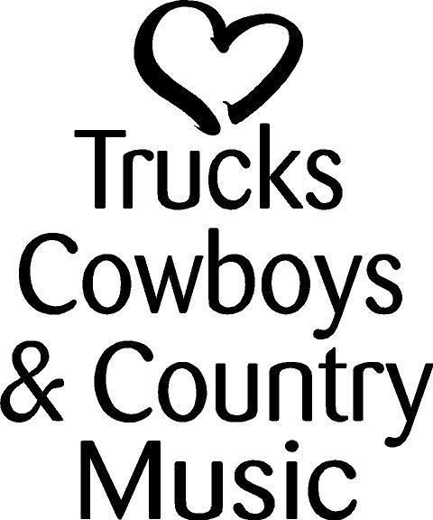 This is for 1 trucks cowboys & country music Vinyl decal. NOTE: There is no background in the decal, the background is whatever surface you place decal on! In the picture the vinyl decal is black, the white (background) would be whatever surface you apply it to! | eBay!