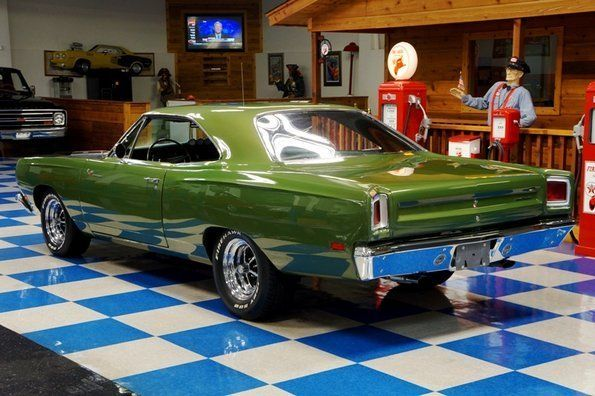 Ivory Green 1969 Plymouth Road Runner