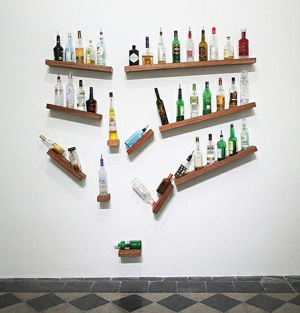 DIY Deko Ideen babyzimmer regale flaschen