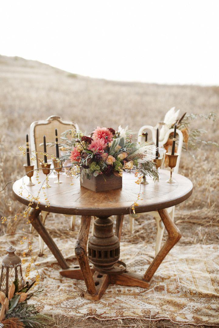 Gothic Bohemian Fall Wedding Inspiration Shoot - MODwedding  #archiverentals #vintagerentals