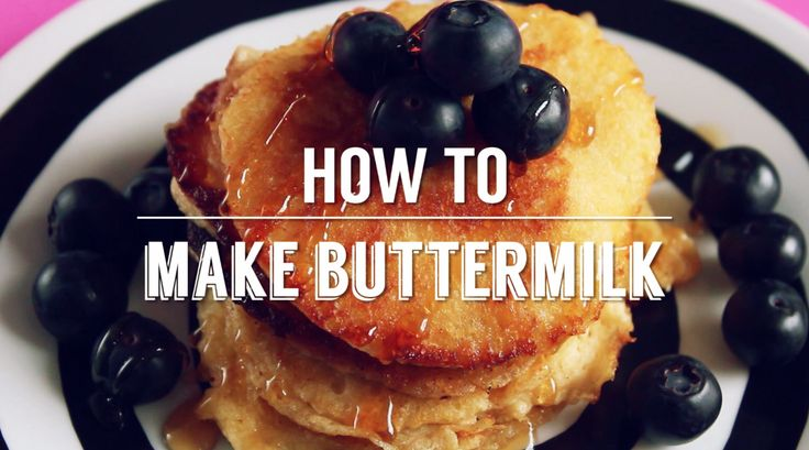 How to make homemade buttermilk for perfect pancakes!