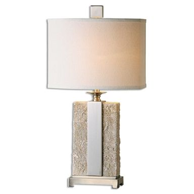 Bonea stone ivory table lamp by uttermost