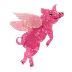 Erstwilder Pigs Can Fly Brooch - Gwynnie's Emporium