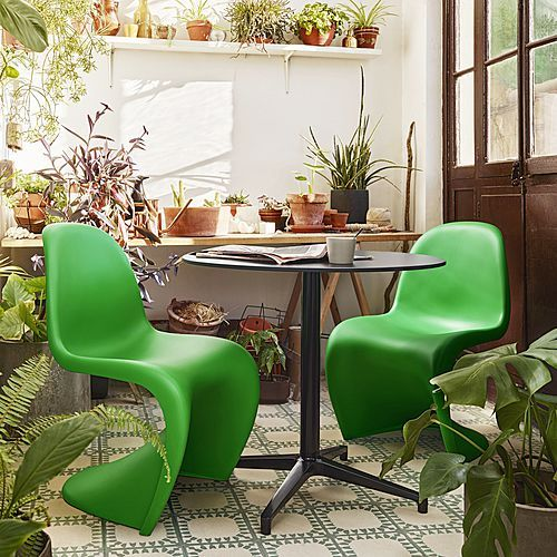 The Panton Chair in Summer Green