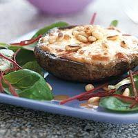 Recept - Portobello-champignon gevuld met geitenkaas - Allerhande