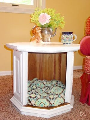 April 22, 2012  Old End Table into Chic Dog Bed!