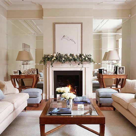 Mirrored Alcoves Add Light To A Room