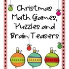 Christmas Math, Games, Puzzles and Brain Teasers is a collection from Games 4 Learning. It is loaded with Christmas math fun. It includes printab...