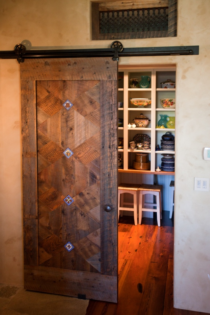 32 best images about reinventing old things on pinterest for Sliding pantry doors
